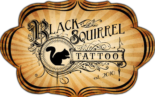 Black Squirrel Tattoo Iowa